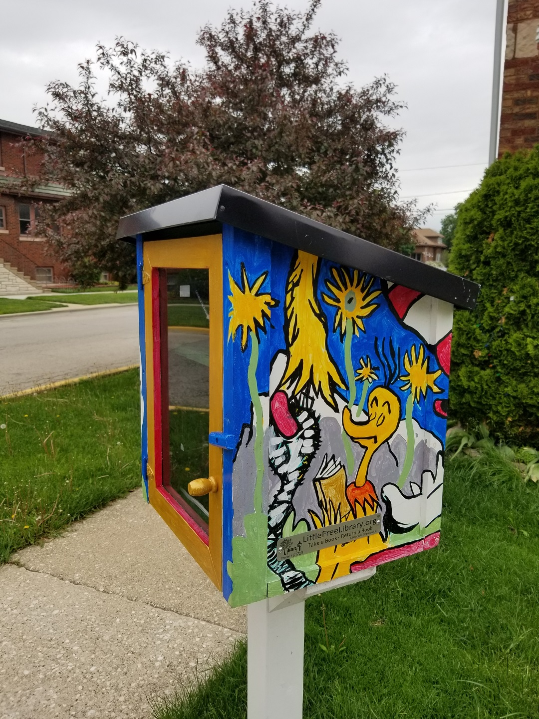 Dr. Seuss Little Free Library in Berwyn
