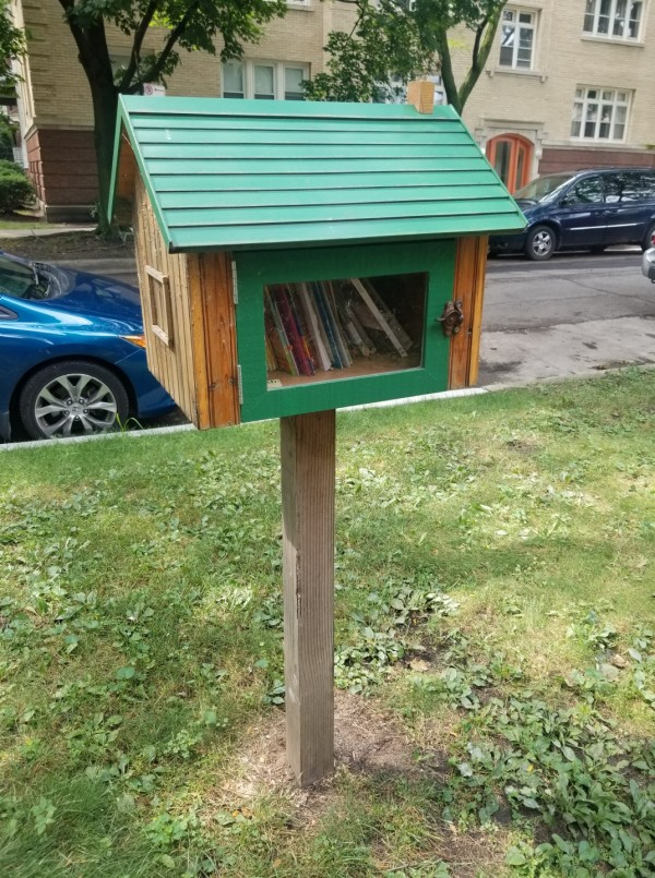 Little Free Library near Highland & Hermitage in Chicago